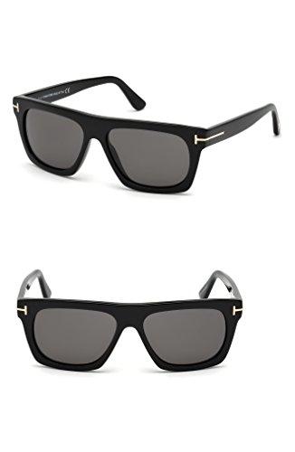 トム・フォード アクセサリー サングラス・アイウェア Tom Ford Ernesto 55mm Sunglasses Black/ Smo [並行輸入品]