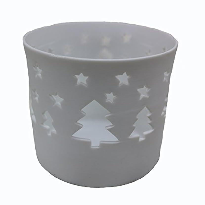 カフェリサイクルするハンサムキャンドルカップ(ティーライト付き) ツリー