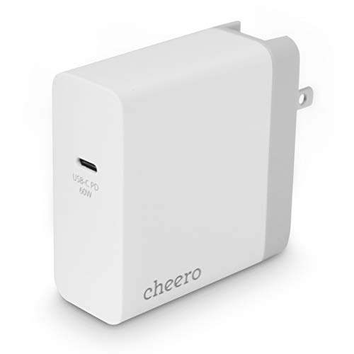 cheero USB-C PD Charger 60W (White + Silver)