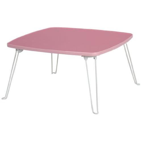 不二貿易 カラーテーブル 角 幅60 LPI CCB6060LPI ライトピンク 94843