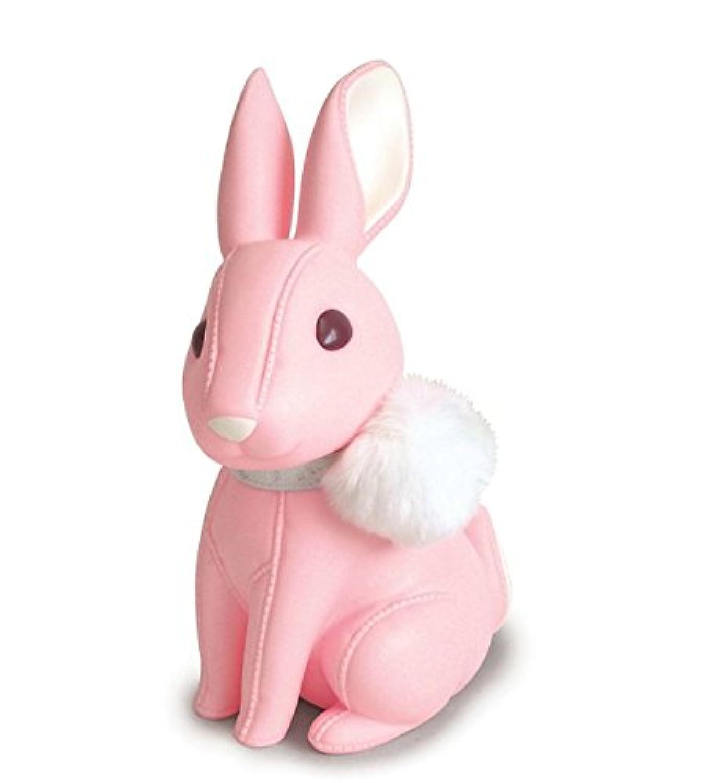 マネー バンク バニーピギーバンククリエイティブ漫画ピギーバンクホームクラフト装飾プラスチック人形(ピンク)
