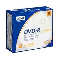 (業務用セット) ativa データ用DVD-R 4.7GB ホワイトレーベル 個別ケース 10枚入 【×5セット】