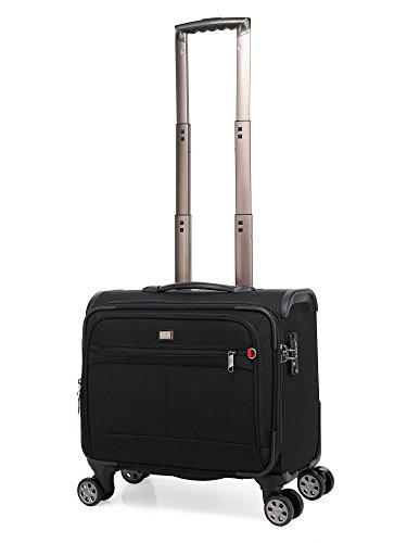 クロース(Kroeus)ソフトキャリーバッグ スーツケース 機内持込 小型 ビジネス TSAロック搭載 4輪 ネームタグ付き ブラック