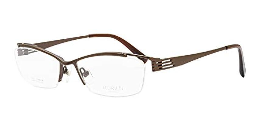 鯖江ワークス(SABAE WORKS) 遠近両用メガネ 格好いい ハーフリム チタン HR7073 遠用度なし 度数+2.00