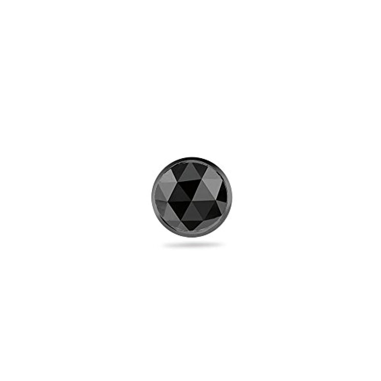 結果シェルドレスHoliday Deal on 0.11 – 0.13 CTSの3 mm AAAラウンドローズカットブラックダイヤモンドメンズスタッドイヤリングで14 K Blackenedホワイトゴールド