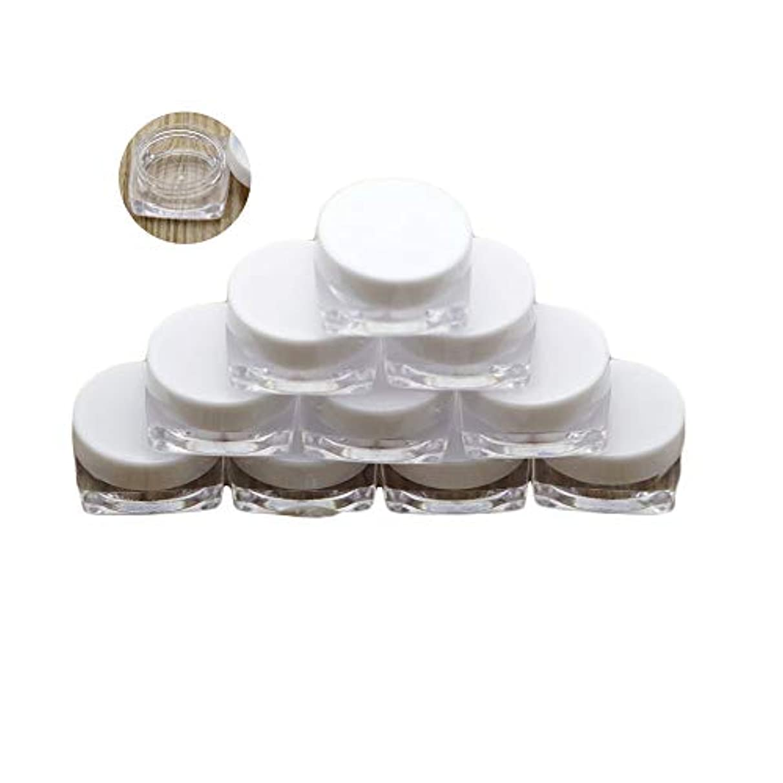 削るポルティコ流用するNUOMI 20個 3g 小分け容器 小分けボトル ミニ クリームケース ジャーポット 化粧品 詰め替えボトル クリア パウダーボックス アイシャドウ リップ クリーム 手作り 密封性 携帯用 収納 旅行 ホワイト
