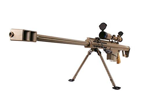 SNOW WOLF バレットM82A1 (対物ライフル) FDEカラー 電動フルメタル スコープ&バイポット付属