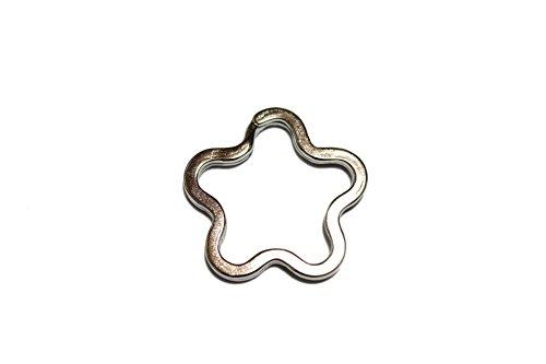 [해외]jewel 스타 열쇠 고리 이중 실버 1 개 열쇠 고리 파트 스타/jewel star key ring double silver 1 piece key holder part star
