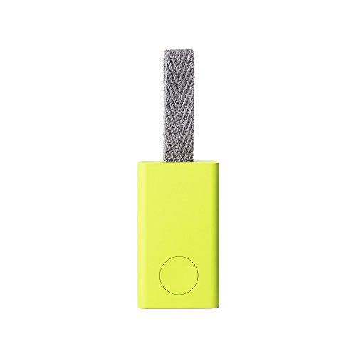 Qrio Smart Tag(キュリオスマートタグ) ライムイエロー 探し物発見機 忘れ物防止 スマホも探せる スマホカメラのシャッター機能付き Q-ST1-LY