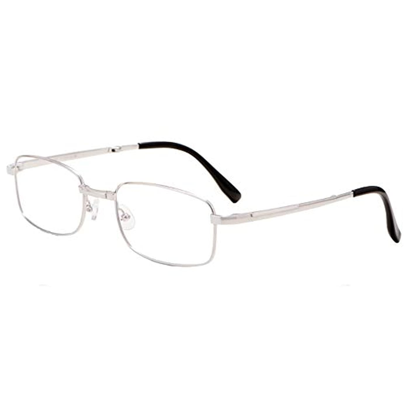 スタック飛ぶアプライアンスYYQ 金属製の老眼鏡、コンパクトな折りたたみ式リーダー、携帯型ファッションの超軽量男性と女性のコンピュータゴーグル、HD樹脂レンズ、スプリングヒンジ(+1.0)