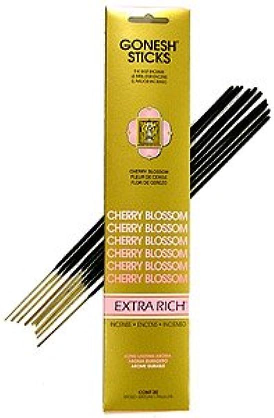 厄介な血色の良い光沢GONESH(ガーネッシュ) インセンス スティック エクストラリッチ EXTRA RICH チェリー ブロッサム CHERRY BLOSSOM