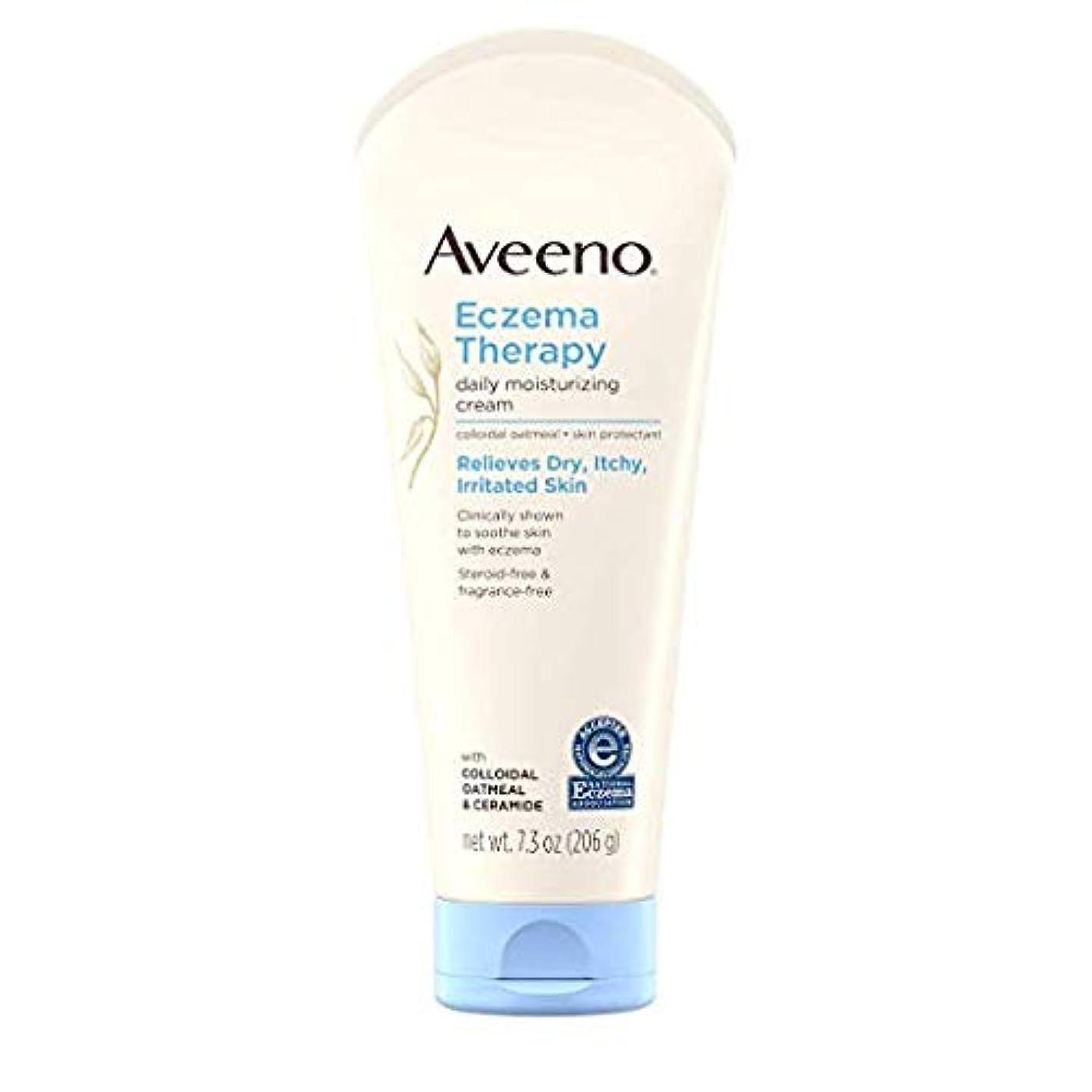 の慈悲でブラウザ消毒剤Aveeno - Eczema Therapy Moisturizing Cream - 7.3 oz (206 g) アビーノ 保湿クリーム [並行輸入品]