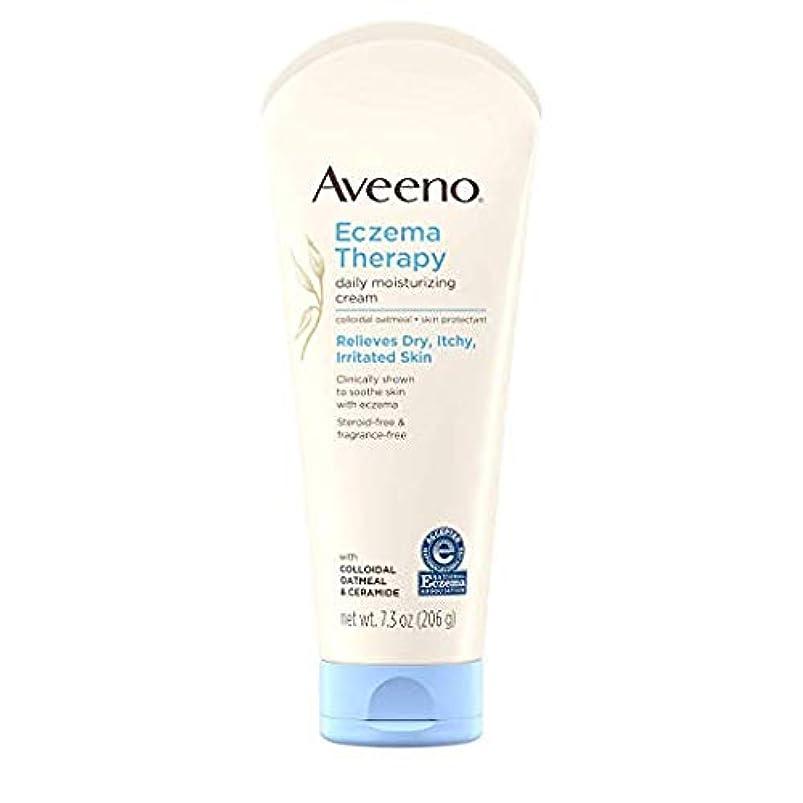 ぜいたく種をまく保存Aveeno - Eczema Therapy Moisturizing Cream - 7.3 oz (206 g) アビーノ 保湿クリーム [並行輸入品]