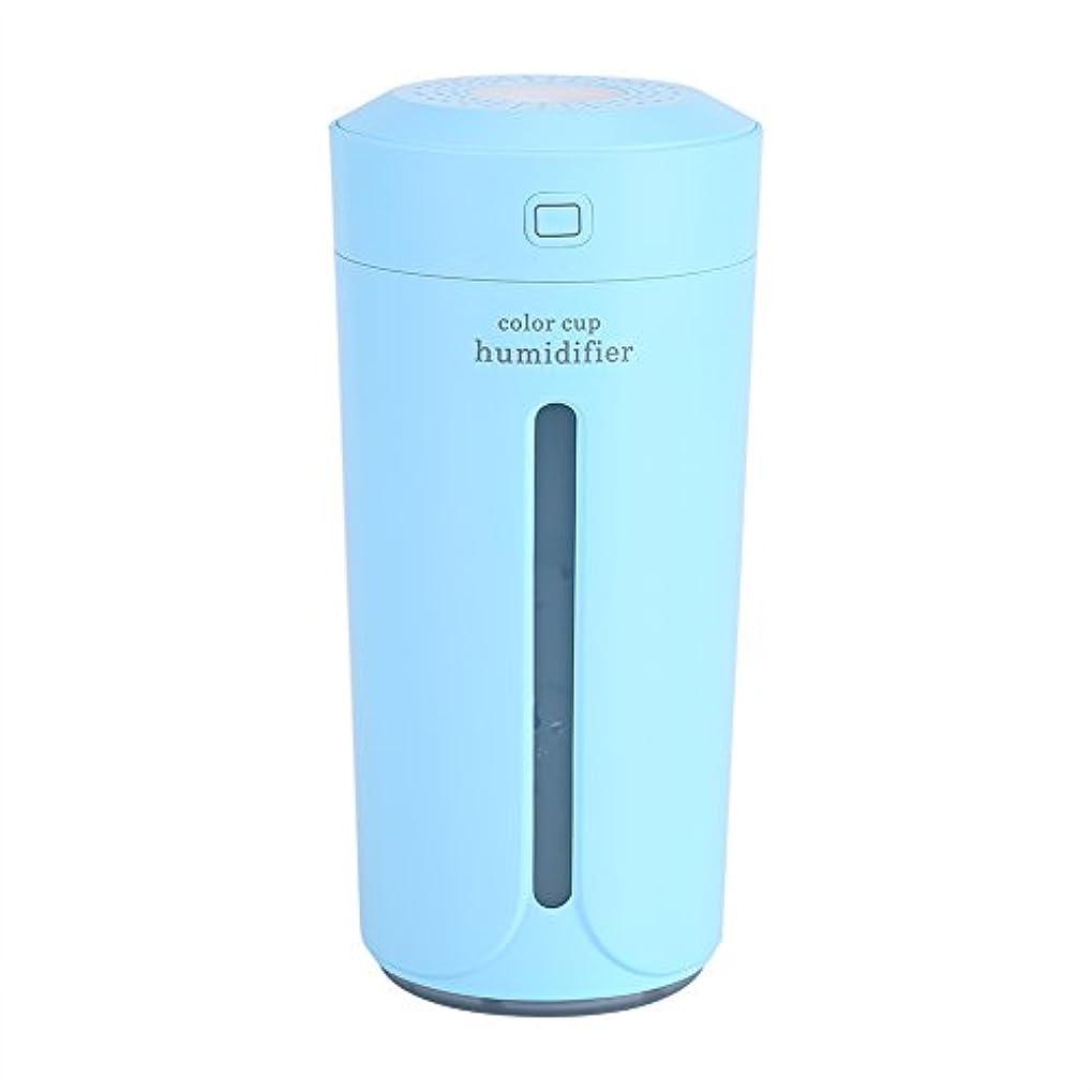 死んでいるテクニカル政治家空気加湿器、携帯用LED USBの空気霧の噴霧器の加湿器の清浄器の家の寝室(青)