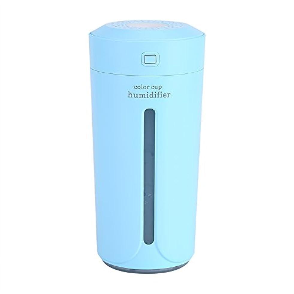 性差別好むぼかす空気加湿器、携帯用LED USBの空気霧の噴霧器の加湿器の清浄器の家の寝室(青)