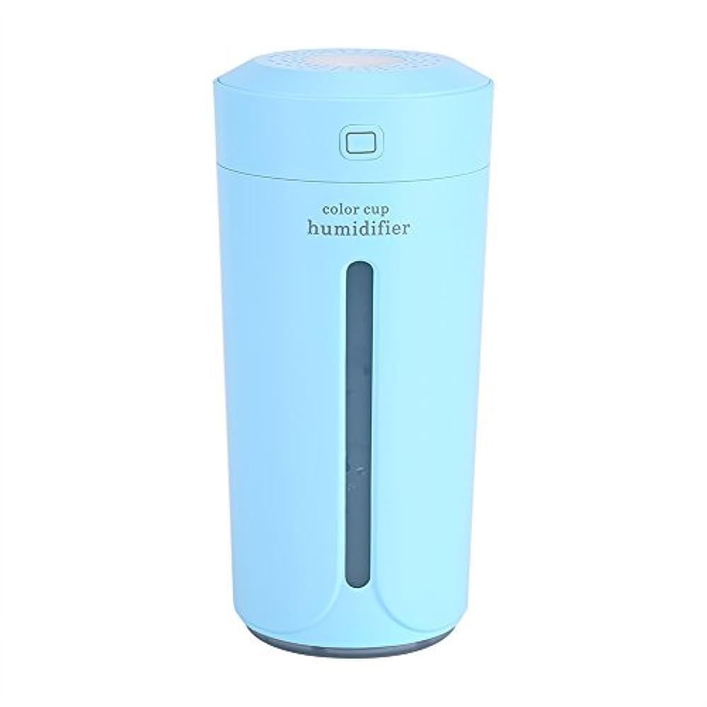 ワット浸漬見つける空気加湿器、携帯用LED USBの空気霧の噴霧器の加湿器の清浄器の家の寝室(青)