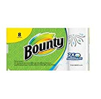 Bounty Paper Printed Towels, White, 6 Double Rolls by Bounty