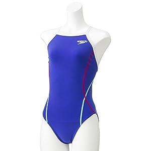 Speedo(スピード) 競泳水着 女の子 ジュニア トレインカットスーツ トレーニング ENDURANCE J 130 BW(ドリームブルー×ホワイト) SD36T01