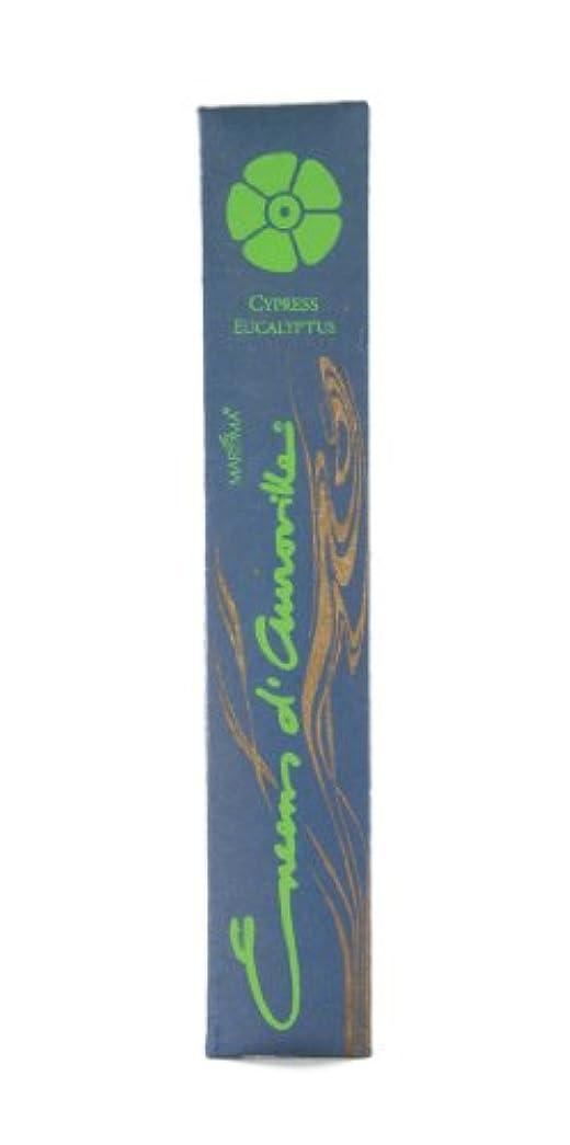 管理はしごびっくりMaroma自然Incense Encens d 'auroville Cypressユーカリ10 Sticks