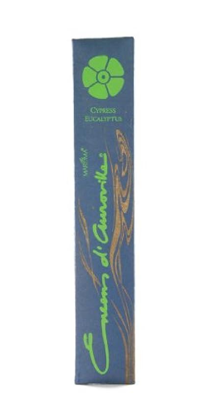 抵抗シガレット市民Maroma自然Incense Encens d 'auroville Cypressユーカリ10 Sticks
