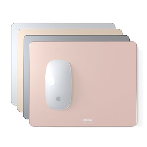 LunaBox Premium Aluminum Mouse Pad Double Sides アルミニウム マウスパッド 光学式マウス 対応 300mm x 240mm (Large) (Spacegray)【36ヶ月の保障】