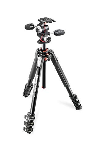 Manfrotto プロ三脚 190シリーズ アルミ 4段 + RC2付3W...