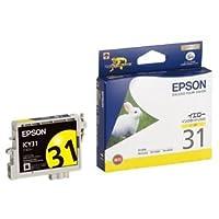 (まとめ) エプソン EPSON インクカートリッジ イエロー ICY31 1個 【×4セット】