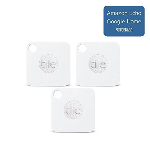 【Amazon.co.jp限定】Tile Mate 3個パック 落としモノ/失くしモノ防止トラッカー 携帯GPS[日本正規代理店品](1年保証付) EC-06001-JC-3P