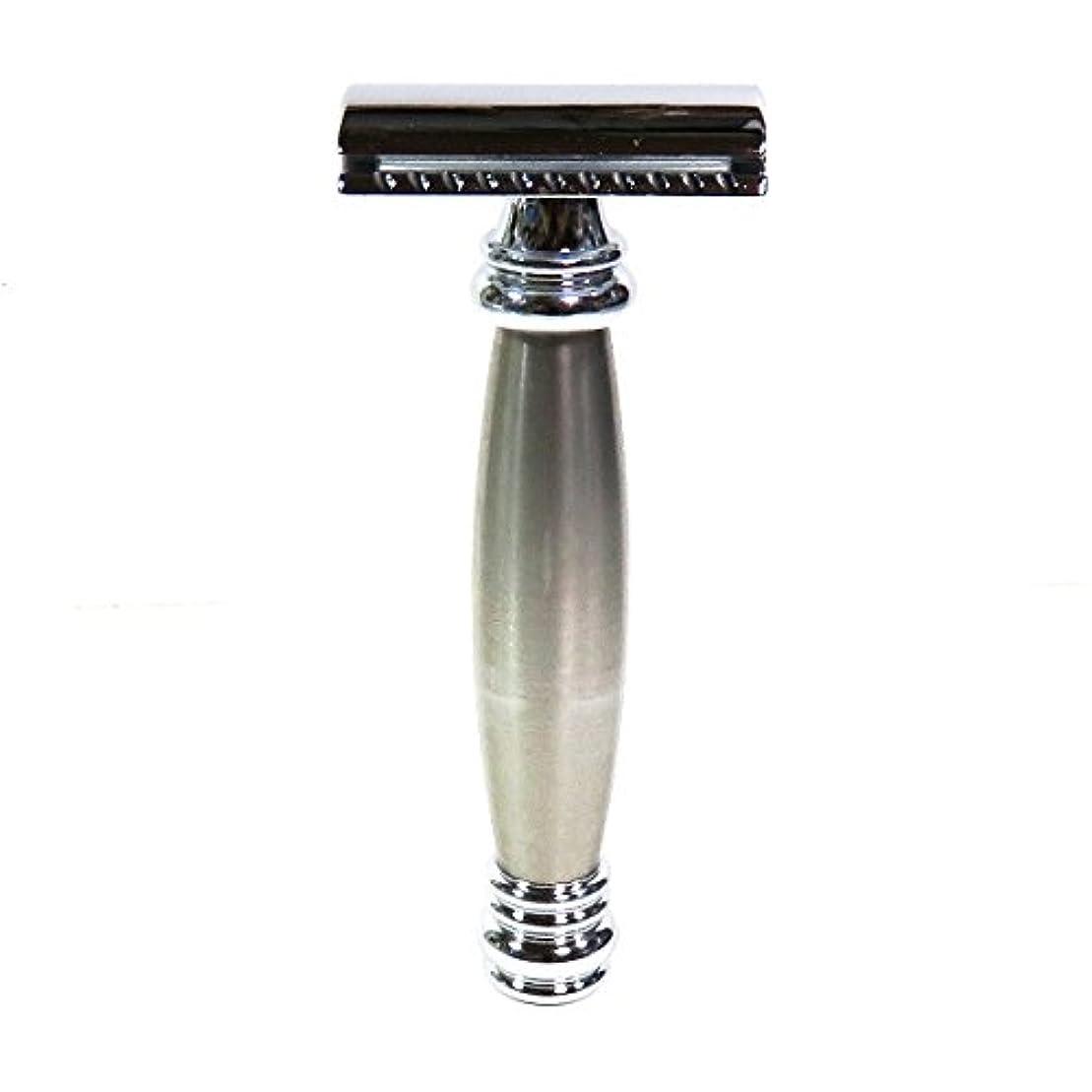 ボタン羽アカデミーメルクールMERKUR(独)髭剃り(ひげそり)両刃ホルダー43002 流線型重厚グリップ
