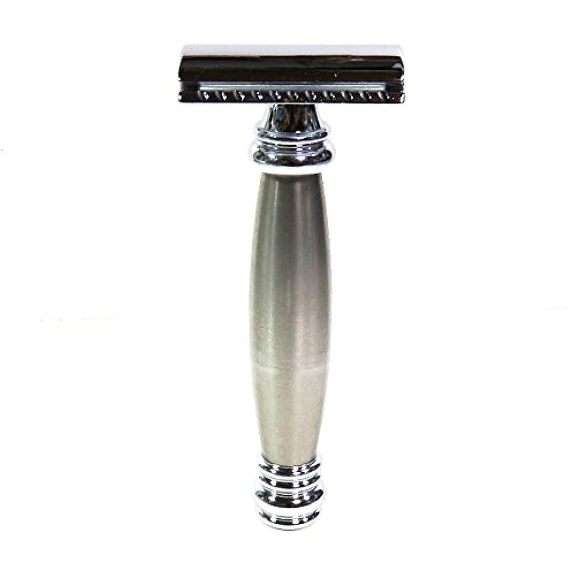 フィードポット勝利したメルクールMERKUR(独)髭剃り(ひげそり)両刃ホルダー43002 流線型重厚グリップ