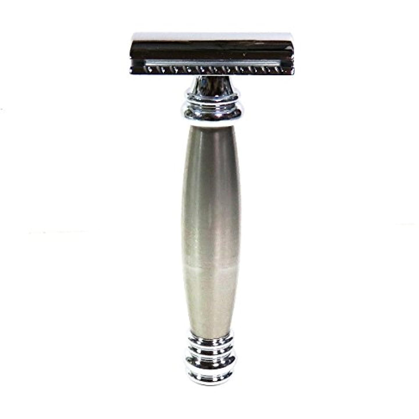 高潔な降雨ライオンメルクールMERKUR(独)髭剃り(ひげそり)両刃ホルダー43002 流線型重厚グリップ