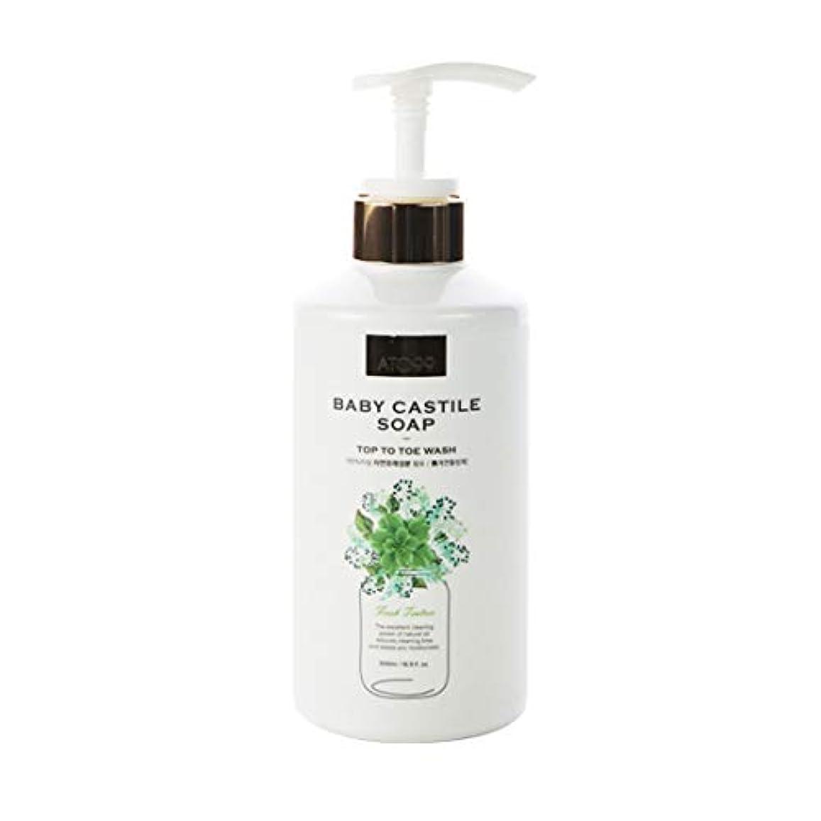 スポンサーマダム想像力豊かな[ATO99] 赤ちゃんカスティール石鹸500ml一体となってマルチクランサー界面活性剤フリー天然成分90%以上強力な保湿乾性皮膚用すべての年齢帯使用可能 (Cypress)