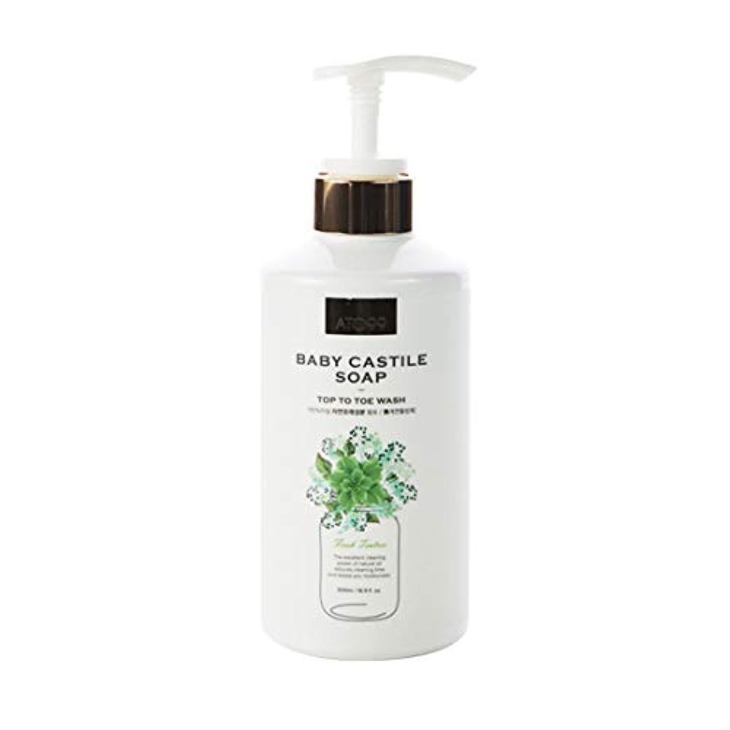 アジャコンプライアンス主張[ATO99] 赤ちゃんカスティール石鹸500ml一体となってマルチクランサー界面活性剤フリー天然成分90%以上強力な保湿乾性皮膚用すべての年齢帯使用可能 (Cypress)