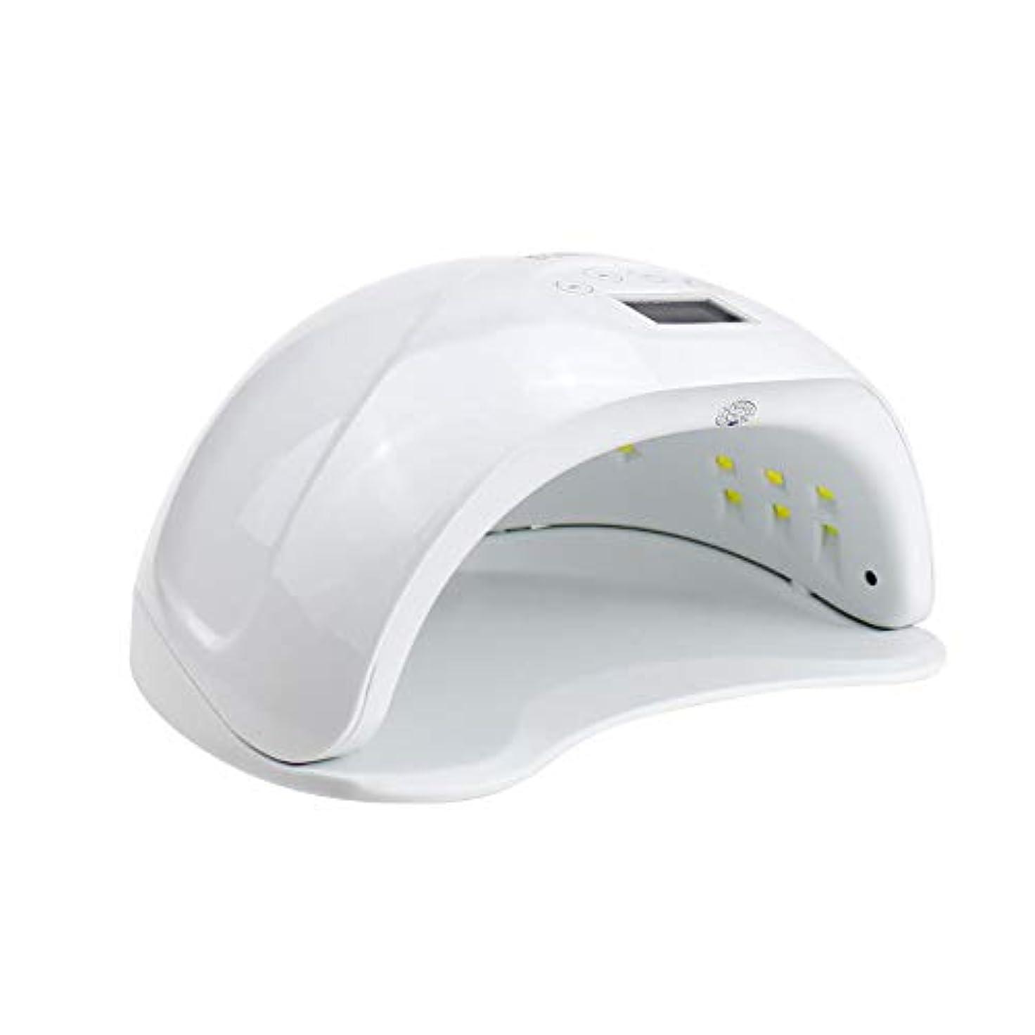 欠かせない従来の知性LED UVネイルドライヤー、48ワットデュアル光源28ライトビーズ4ファイル時限痛みのないモードプロのマシンマニキュア/ペディキュア