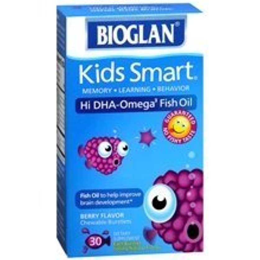飢え悲しむBioglan Kids Smart Hi DHA-Omega3 Fish Oil 500 mg Dietary Supplement Burstlets Berry Flavor 30.0 ea. (Quantity...