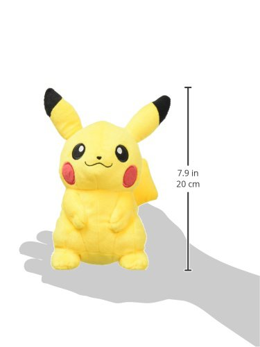 Sanei Pokemon All Star Series Pikachu Stuffed Plush, 7""