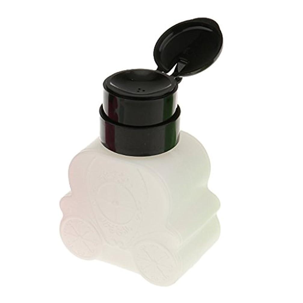 宮殿マイクロフォン適性Kesoto ネイルクリーナーボトル ポンプ 車型 防揮発 耐久 ネイル清潔 便利 240ml