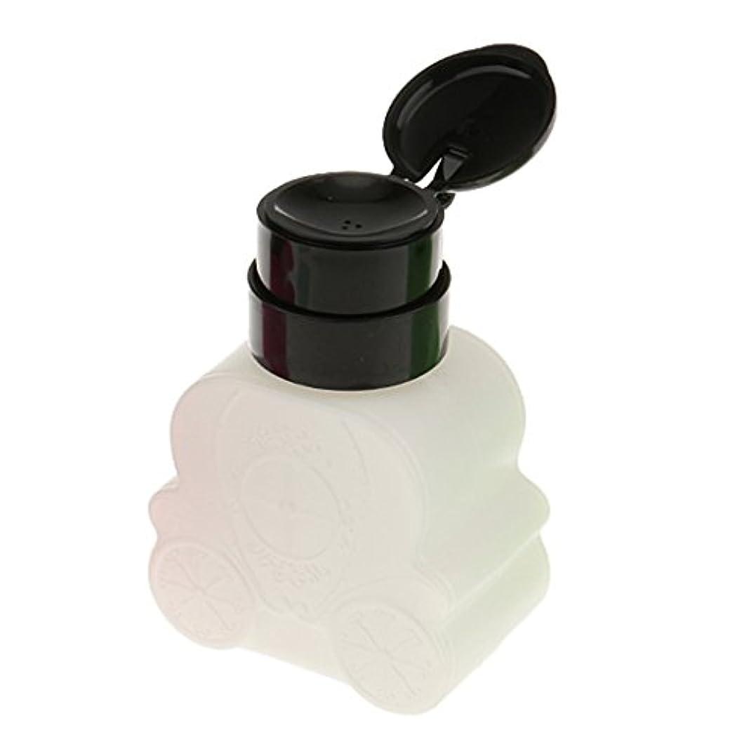 ピックヨーロッパ腐食するネイルクリーナーボトル ポンプ 車型 防揮発 耐久 ネイル清潔 便利 240ml