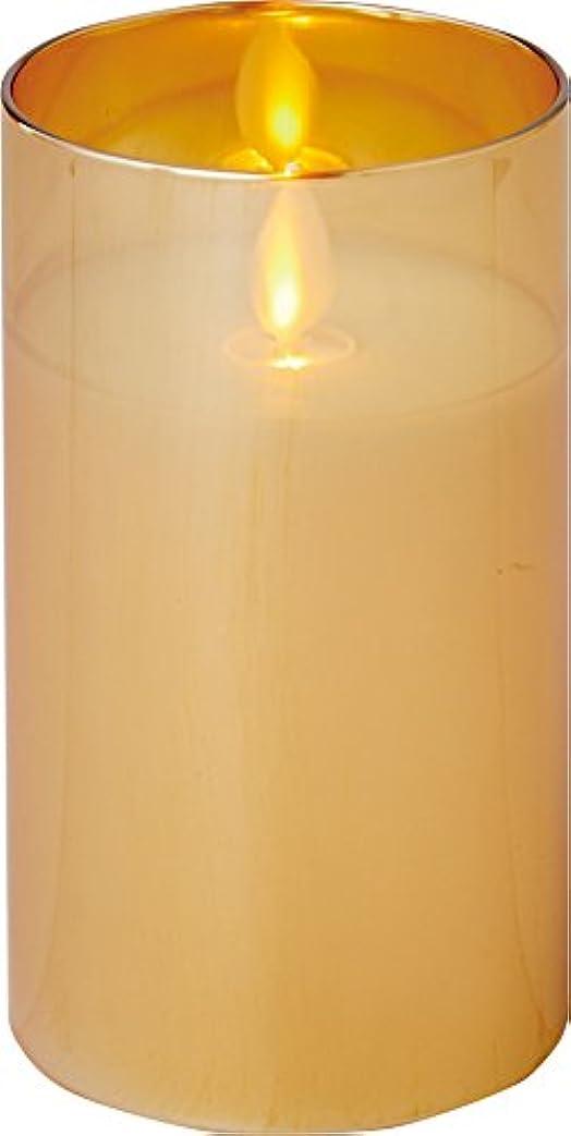 交通理解する栄養illumine イルミネシャイングラス入りLEDキャンドルM ゴールド