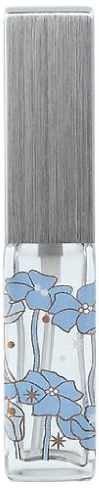 バウンスドットミケランジェロ18010 ハンドメイドグラスアトマイザー 角ビン転写 キャップ ヘアラインシルバー