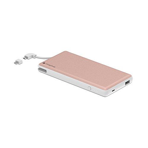 Mophie Powerstation Plus XL外部バッテリーwith Built inケーブルforスマートフォンとタブレット(12,000mAh)–ローズゴールド