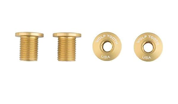 Dual Hex Fittings Re Wolf Tooth Components Set of 4 Chainring Bolts for 1x use