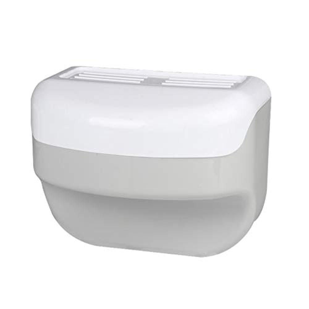 散歩に行く革新帆TOPBATHY 浴室トイレティッシュボックスラック壁吸盤ロールホルダーフリー掘削ネイルフリーティッシュボックス
