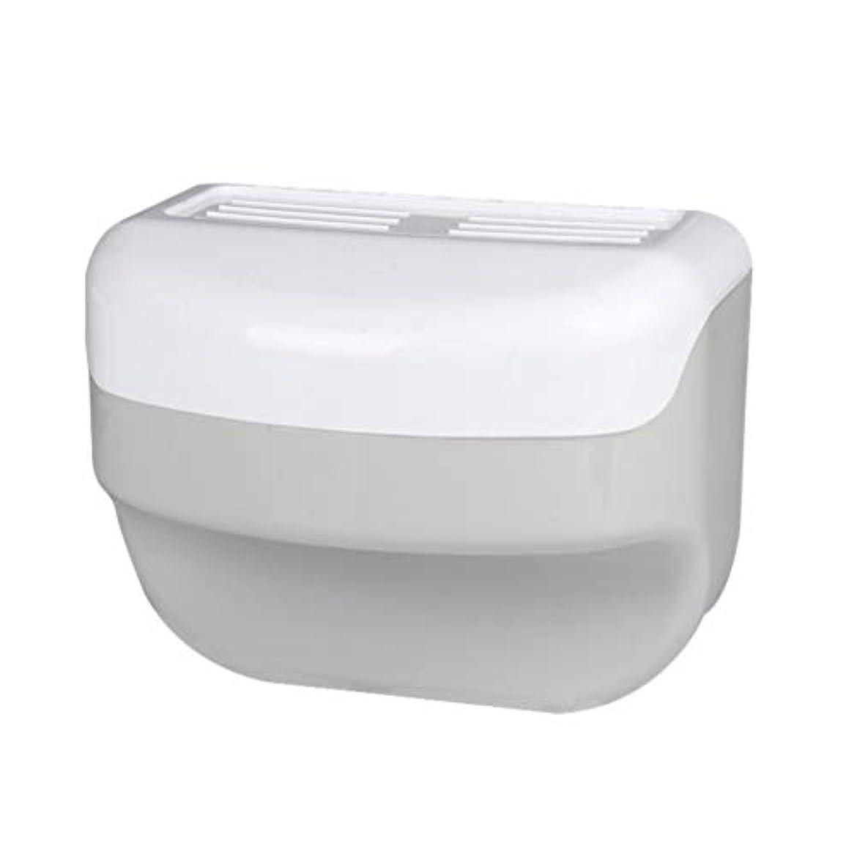 中級無効洞窟TOPBATHY 浴室トイレティッシュボックスラック壁吸盤ロールホルダーフリー掘削ネイルフリーティッシュボックス
