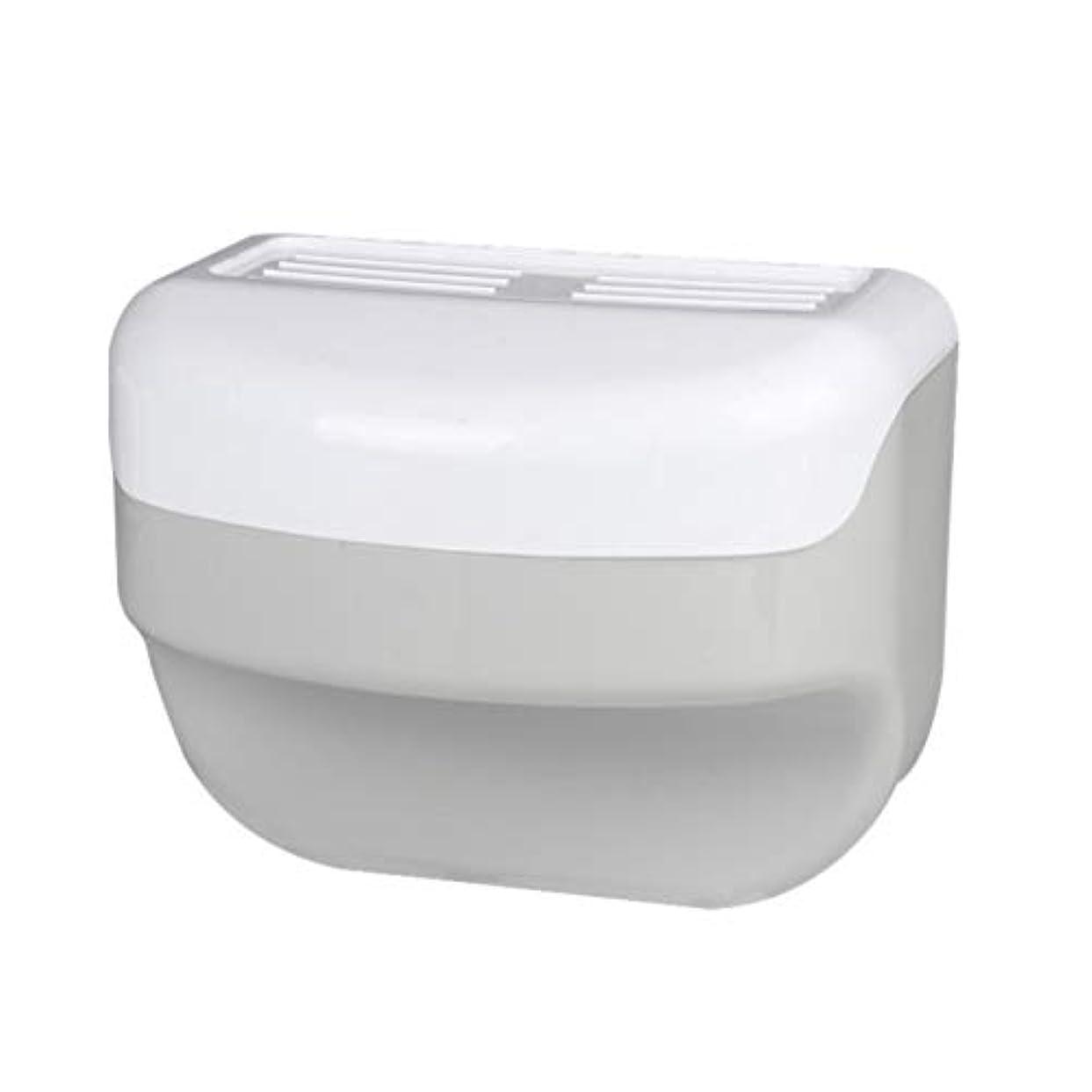 しがみつく有罪名前を作るTOPBATHY 浴室トイレティッシュボックスラック壁吸盤ロールホルダーフリー掘削ネイルフリーティッシュボックス