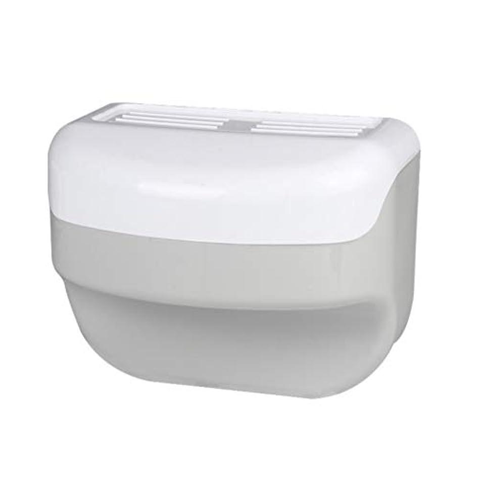 晩餐中庭男らしさTOPBATHY 浴室トイレティッシュボックスラック壁吸盤ロールホルダーフリー掘削ネイルフリーティッシュボックス