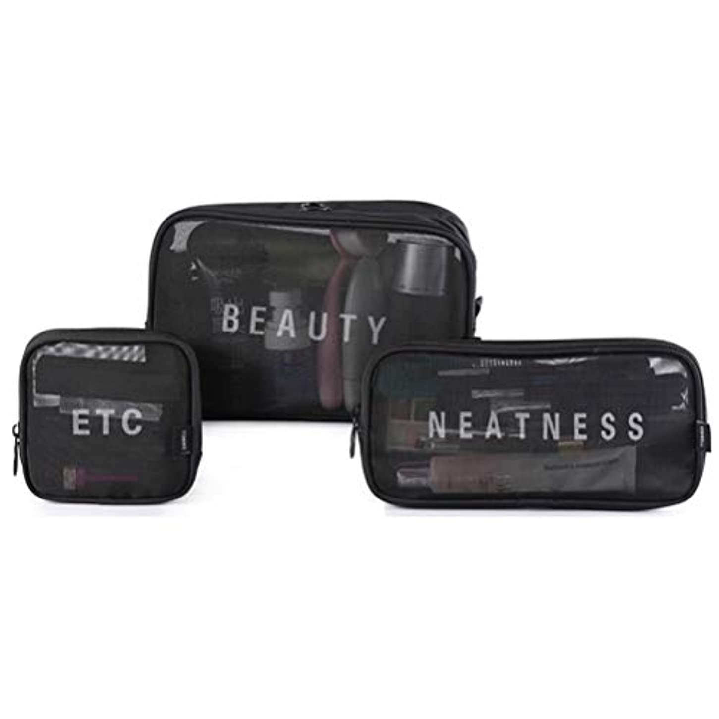 それによって相談するマイクロフォン3点セット 化粧バッグ メイクポーチ 化粧品収納 化粧ポーチ 大容量 メイクボックス メッシュ 透明 化粧用品 携帯しやすい 旅行 出張 可愛い 小物入れ 収納ボックス 化粧品袋 軽量