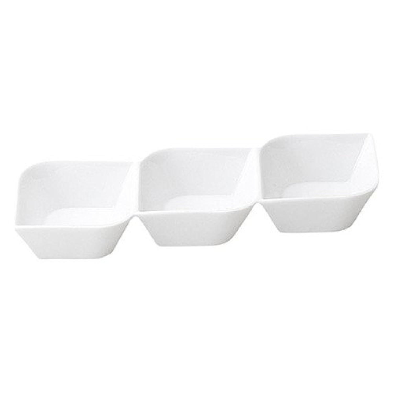 コリーン 3連菜鉢 [ L 24.2 x S 10.7 x H 3.6cm ] 【 仕切皿 】 【 飲食店 レストラン ホテル カフェ 洋食器 業務用 】