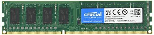 デスクトップPC用メモリ PC3L-12800 DDR3L-1600 2GBx2枚 1.35V/1.5V両対応 無期限保証 Crucial by Micron W3U1600CM-2G