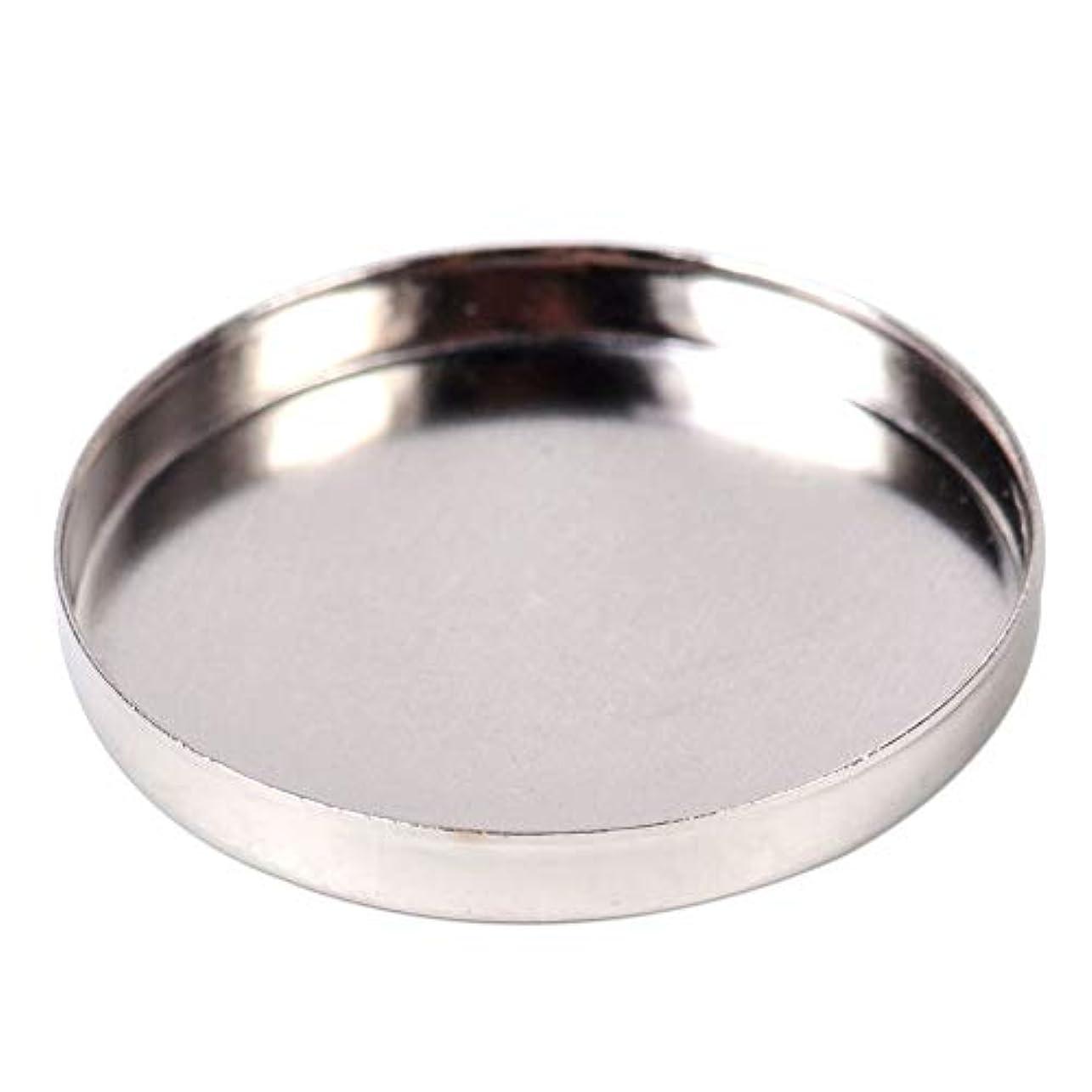 食品アライメント敵意マグネットに反応する10×丸型ブリキパンパレット26mm空のアイシャドウパレット